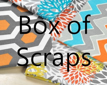 Premier Prints Fabric Box of Scraps Remnants Fabric Pieces Modern Prints colorful fabric