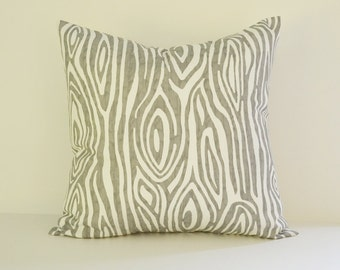 Tree Pillow Cover Decorative Pillows Wood Throw Pillows Grey Pillow 16x16 18x18 20x20 22x22