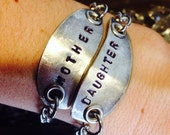 Version 2 Mother and Daughter 2 piece recycled vintage spoon bracelet