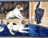 Dogs and Cat Wall Tapestry