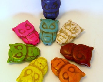 X-Large Howlite Owl Beads