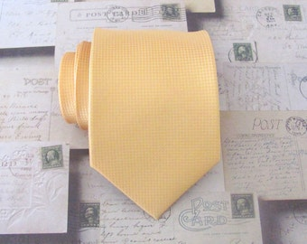 Mens Ties Necktie Gold Yellow Mini Square Mens Tie