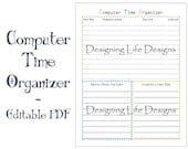 Editable Time Organizer Printable - Time Management for Anyone