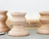 Unfinished Wood Candle Cup Candlestick
