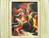 Vintage Expressionist Dancing Figures painting