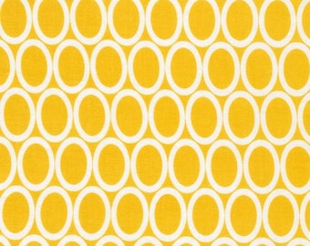 Robert Kaufman Remix Yellow Ovals 1 yard