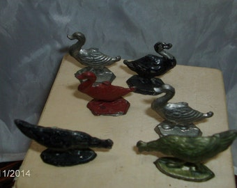 vintage metal geese and ducks