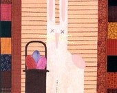 Wall Quilt Pattern - Button Up March - wall banner quilt - Easter Bunny
