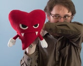 Large Plush Valentine's Heart Dracula