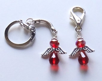 Multiple Myeloma Cancer Angel Purse Charm or Key Chain - ACS Relay for Life Donation - Ready to Ship