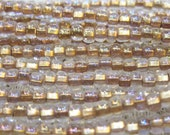 6/0 Crystal Bronze Lined Czech Glass Seed Beads 12 grams