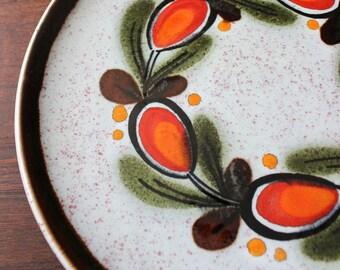 Schramberg Bernau German hand painted Majolica salad plate.