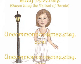Lucy Pevensie, Narnia Paper Doll. 3 pages.