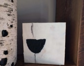 Dreamy creamy fine art encaustic, black & white