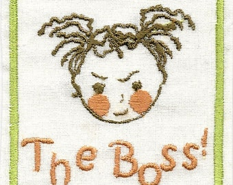 THE BOSS Girl !   Toddler's Iron on  Raggy Patch,