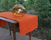 Linen Table Runner READY to SHIP Orange Linen Runner Fall Wedding Décor Table Settings Table Decor French Country Farmhouse Halloween Decor