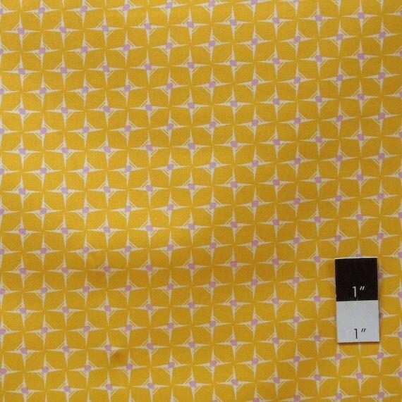 Heather Bailey HB12 Nicey Jane Hop Dot Tangerine Cotton Fabric 1 Yard