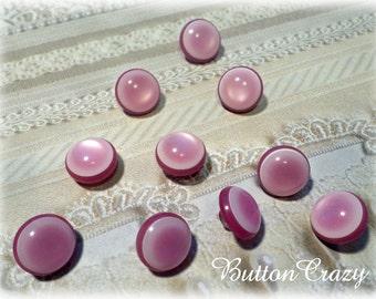 10 Multi-Pinkish Lavender Vintage Shank Buttons
