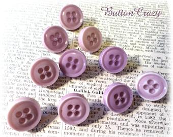 10 Vintage Lavendar Buttons