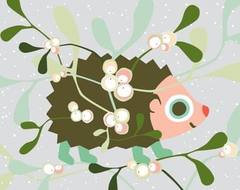 Hedgehog Christmas card - Eco-friendly