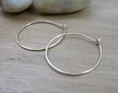 Gold Hoop Earrings 14K Gold Filled Hammered Hoops Minimalist Earrings Minimalist Jewelry Everyday Jewelry - On The Go