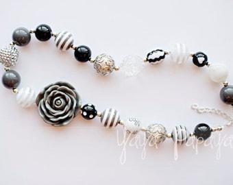 Grey & Black Chunky Necklace