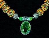 Sparkling Balinese Green Amethyst & Nepali Beads