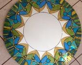 Mosaic Mandala Mirror Stained Glass Round