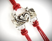Heart bracelet anniversary friendship bracelet bridesmaid gift love graduation valentines ready to ship mothers day