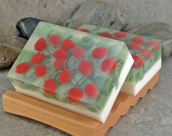 Fresh Picked Strawberry Handmade Glycerin Bar Soap