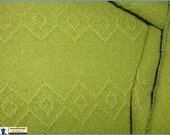 Fabulous Mid Century 1960s Chartreuse Tablecloth / Heavy Weave / Large Size 60 x 120 Rectangle / nowandthenstyle
