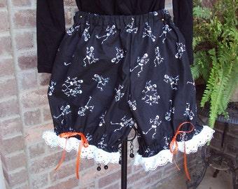Skeleton Bloomer shorts--Design your own costume--OOAK  girls Med.