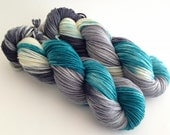 Dyed to Order - London Fog - Superwash Merino Worsted, DK or Fingering Sock Yarn  - Vivid Yarn Studio