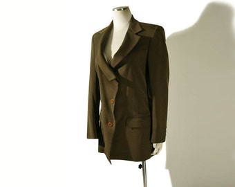 Vintage Issey Miyake Jacket // 1980s Issey Miyake Wool Avant Garde Jacket Small Medium