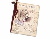 Pemberley Post, Jane Austen Journal & Notebook, Pride and Prejudice Notebook, Bridesmaid Gift,  Travel Journal, Darcy and Elizabeth Bennet,