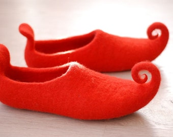 Felted slippers home fairy shoes baby children sizes  HANDMADE TO ORDER custom colors