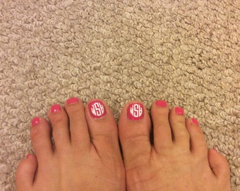 Mini Monograms for your toes. Free shipping