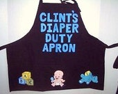 Personalized New Dad Diaper Apron,  Novelty Dad To Be Apron, Fill It Yourself Apron With Funny Diaper Tools