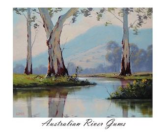 Printable paintings wall art prints from my Original Oil Painting Australian Trees