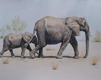 The Elephant Child - Original Watercolour Painting
