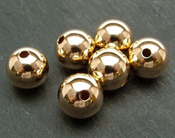 Gold Filled Plain Bead 10mm (CG6141)