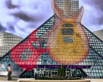 Rock and Roll - Cleveland - Guitars - Couple - Rock and Roll Museum - Fine Art Photo -  11 x 10 Matted Photo - Home Decor - Office Decor