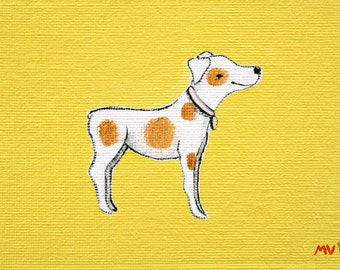 "This is Gabby- PRINT 8x10"" dog, gabby, yellow, cute dog, nature, woodland animals, hawk"