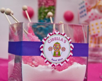 Super Sweet Candy Gumball Birthday Party Favor Tags Set of 12 by Belleza e Luce