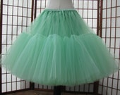 Mint Green Tulle Skirt -- Ready to Ship