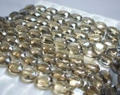 16pc Chinese Crystal Glass Beads Tan Champagne Oval Faceted 16 by 13mm strand Jewelry Jewellery Craft Supplies