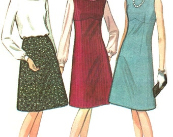 1960s Dress Jumper Blouse Pattern Skirt McCall's Vintage Sewing Uncut Women's Misses Juniors Size 11 Bust 31.5 Inches