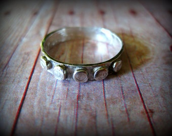 UNISEX No.3 - Unisex Mens ring Solid Fine Slver Ring Handmade Oxidized 999 Fine Silver Ring Size 9 PMC Fine Silver Ring Size 9.5
