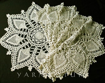 Extraordinary Pineapple Doily Placemats - Set Of Six - Luxurious Home Decor