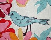 Floral birds cotton - FAT QUARTER